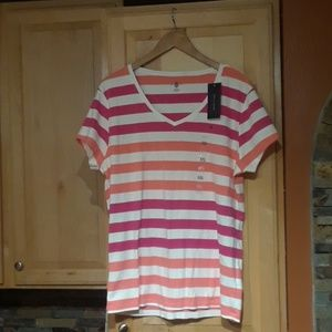 Tommy Hilfiger Multicolor V-Neck T-Shirt NWT